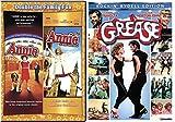 Annie Special Editon + Annie A royal Adventure Musical DVD Set & Grease Movie Musical Set