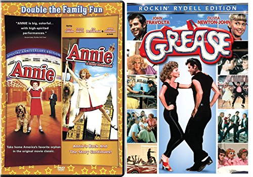 Annie Special Editon + Annie A royal Adventure Musical DVD Set & Grease Movie Musical Set