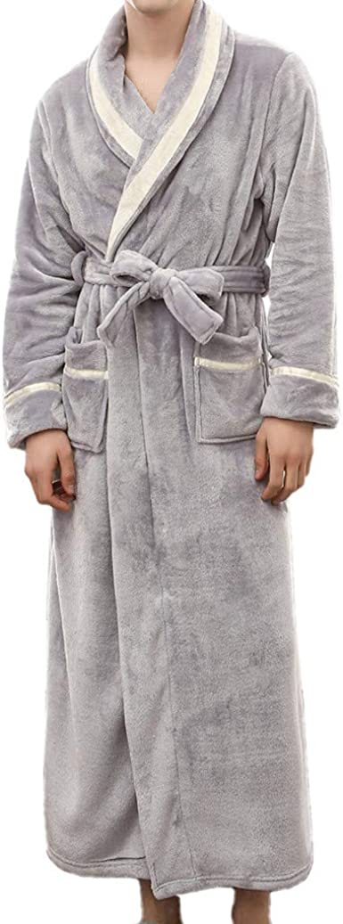 M/&S Long Pink Grey /& White Satin Dressing Gown Wrap Robe Size 8 Full Length
