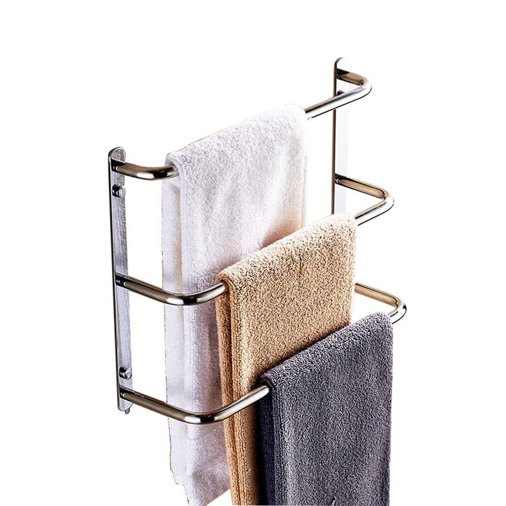 Handtuchhalter, Badezimmer 3-lagiger Edelstahl-Handtuchhalter Wand-Duschhandtuchhalter Handtuchhalter, 2 Größen B07HR3PL29 Handtuchstnder