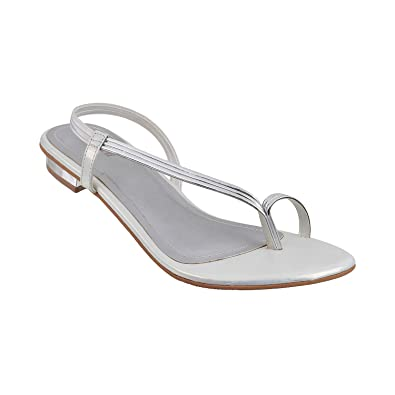 71b8a40278fd Mochi Women White Synthetic Sandals (33-24-16-36-White) Size (Euro36 ...