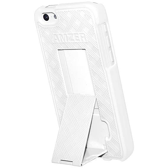 Amazon Com Amzer Snap On Hard Shell Case Cover With Kickstand For