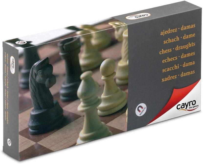 Cayro - Ajedrez/Damas magnético Grande — Juego de observación y lógica - Juego Mesa - Desarrollo de Habilidades cognitivas e inteligencias múltiples - Juego Tradicional (455): Amazon.es: Juguetes y juegos