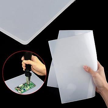 2 almohadillas de silicona multifuncionales para soldar, resistentes al calor y al calor: Amazon.es: Electrónica