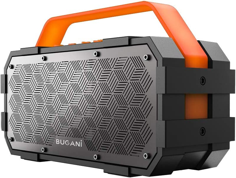 Bluetooth Speaker, Bugani M90 Portable Bluetooth Speaker with 30W Stereo Sound and Deep Bass, 1300Min Playtime and Bluetooth5.0 100ft Wireless Range, Support TF Card/AUX, Built-in Mic, for Home Get