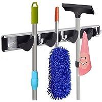 Multifunctionele Mop Rack Senior Aluminium Clip Op Bezem Houder en Tuin Tool Organizer voor Rake of Mop Handles en Veel…