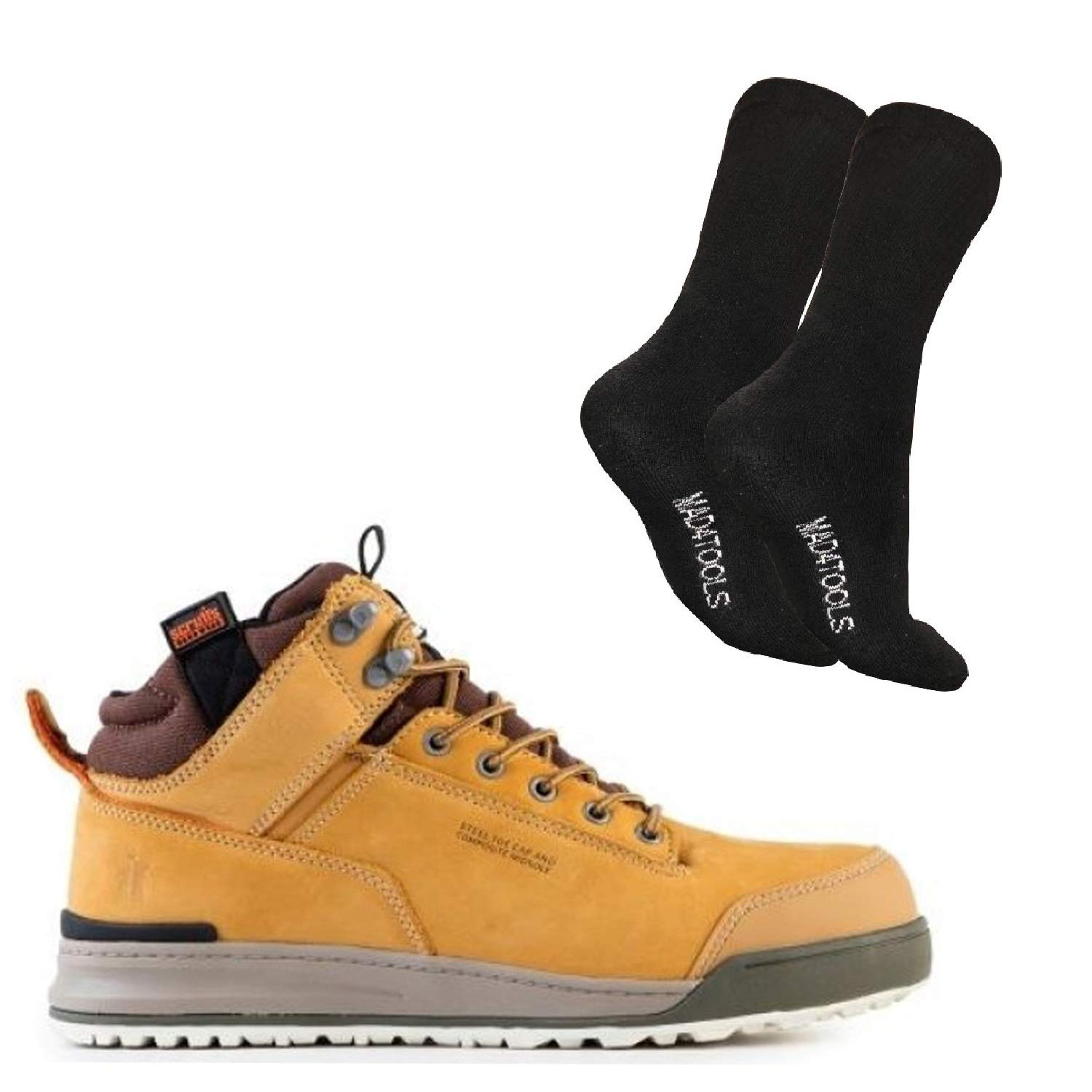Scruffs Switchback Safety Boots and Work Socks