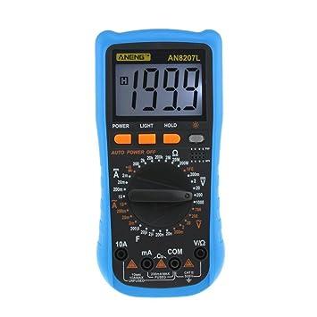 AC-Strom Prüfer Wechselstrom Batterieanzeige Widerstand Multimeter Messgerät