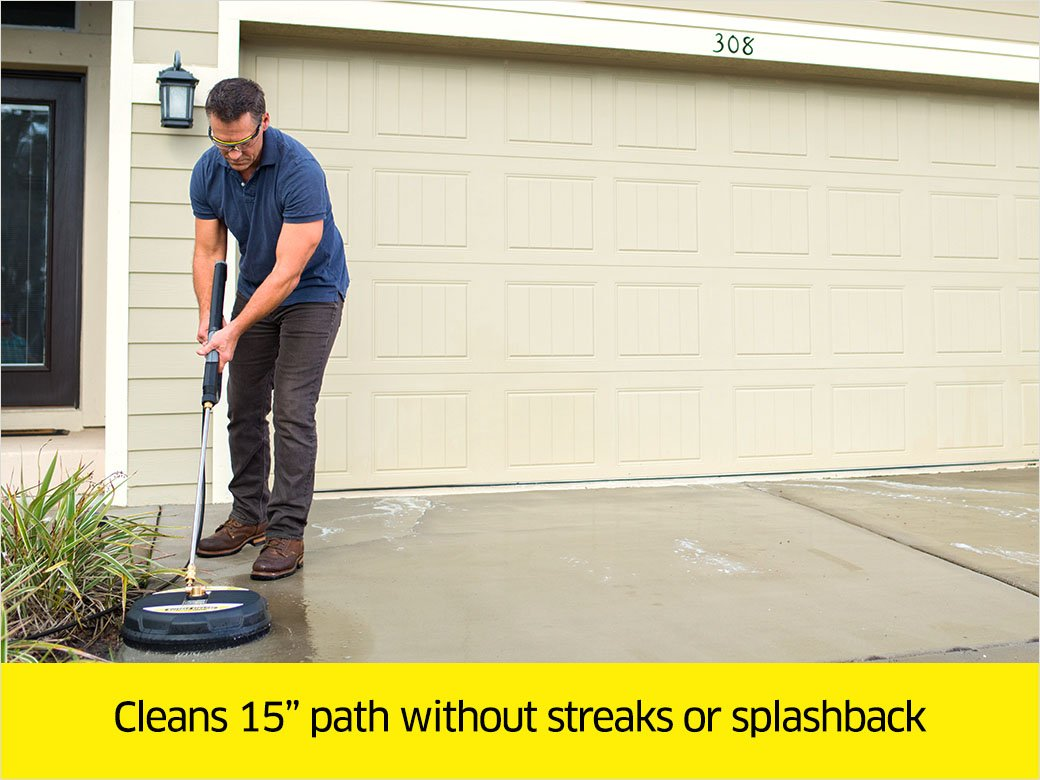 Karcher 15-Inch Pressure Washer Surface Cleaner Attachment, 3200 PSI Rating by Karcher (Image #5)