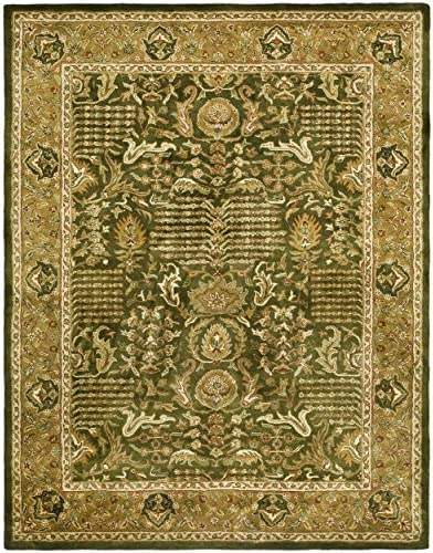 Safavieh Classic Collection CL764B Handmade Traditional Oriental Light Green and Gold Wool Area Rug 8'3″ x 11'