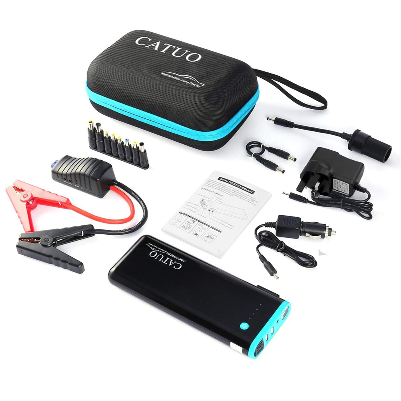 LasVogos CATUO 20000mAh Car Jump Starter Battery Booster with USB Power Bank by LasVogos (Image #1)