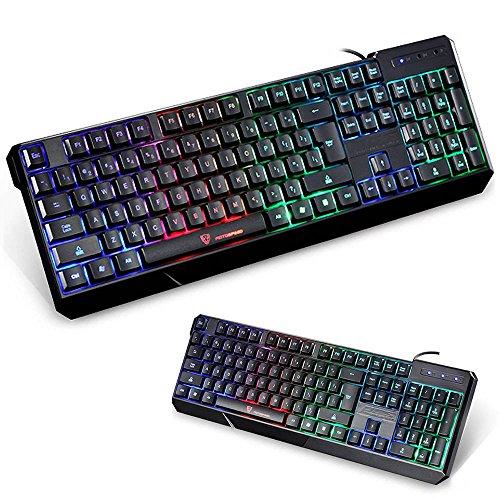 #LightningDeal 53% claimed: NPET CK104 Mechanical Gaming Keyboard with 104 Key and Multi-color Backlight