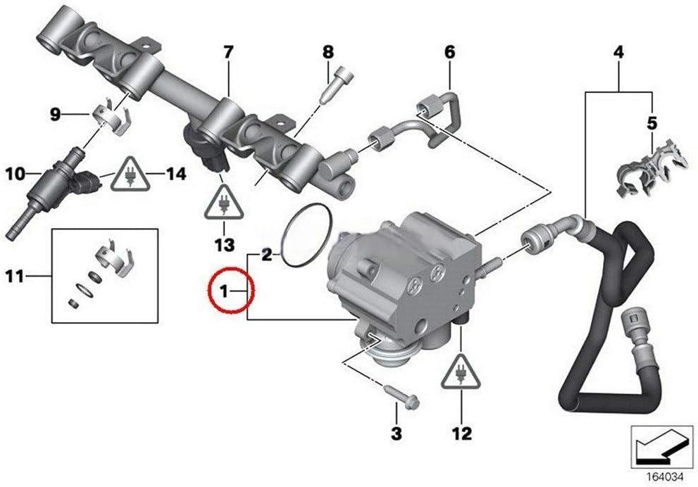 REFURBISHHOUSE High Pompe /À Essence /À Pression pour BMW Mini Cooper S Suraliment/É R55 R56 R57 R58 N14 9819938480