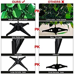 AerWo 5ft Pop up Christmas Tinsel Tree with Stand, Gorgeous Collapsible Artificial Christmas Tree for Christmas Decorations 2