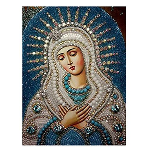 Staron 5D Diamond Painting, Religious DIY Diamond Embroidery Painting Cross Stitch Kit 5D Diamond Painting Embroidery Set Art Wall Decor (A) ()