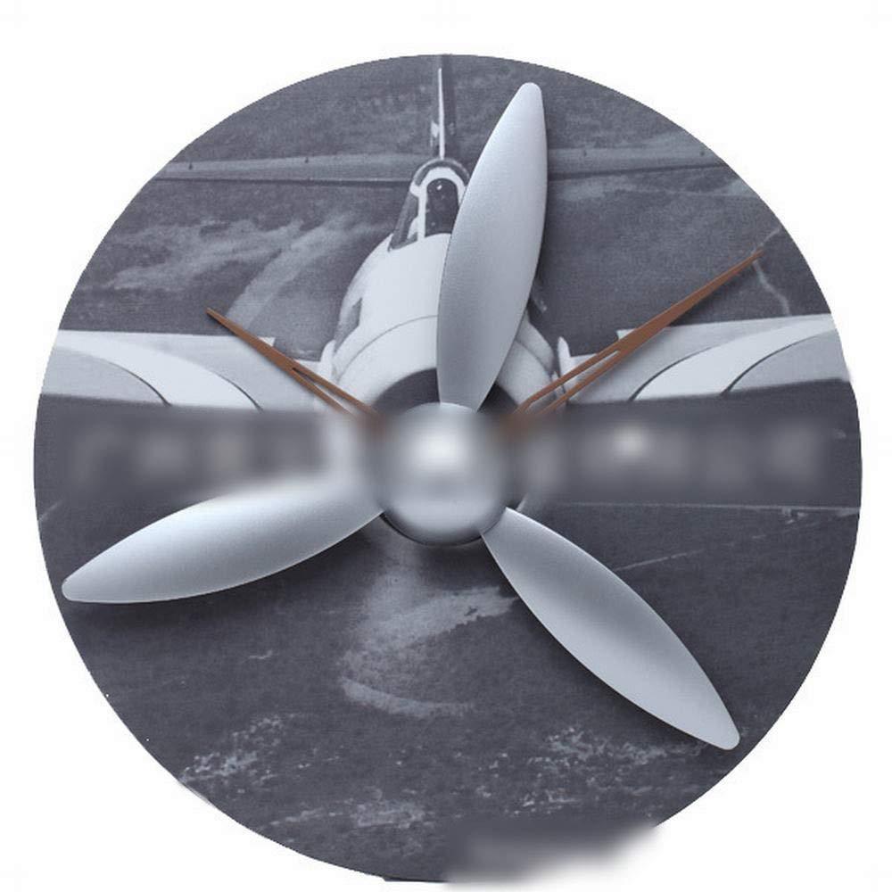 Linannau 航空機モデルの歯車時計、木製の壁時計プロペラ翼の翼の時計人格創造的な贈り物 (色 : 1)  1 B07QRXPVV1