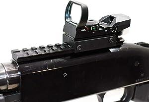 TRINITY Mossberg 500 Tactical Red Green Dot Sight Combo Kit Home Defense Tactical Optics Hunting Accessory Aluminum Black Picatinny Weaver Base Adapter Single Rail Mount.