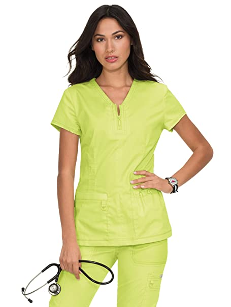 c49fd70d668 KOI Stretch 204 Women's Mackenzie Top (Lemon Lime, Medium): Amazon.ca:  Clothing & Accessories