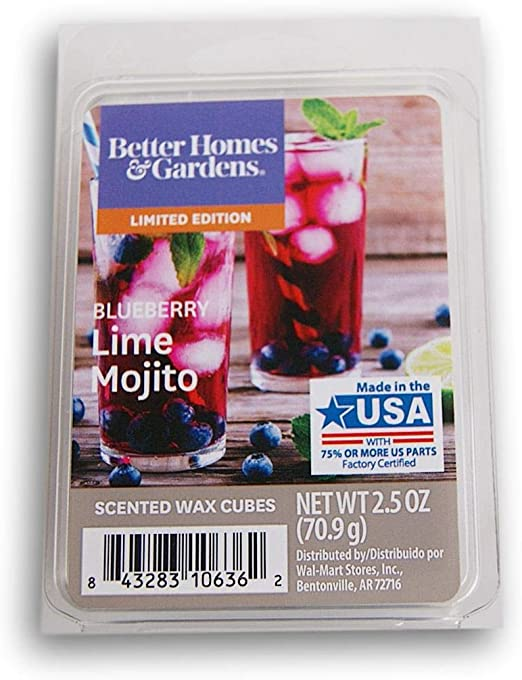 Better Homes /& Gardens BLUEBERRY LIME MOJITO Wax Cubes 2 Packs