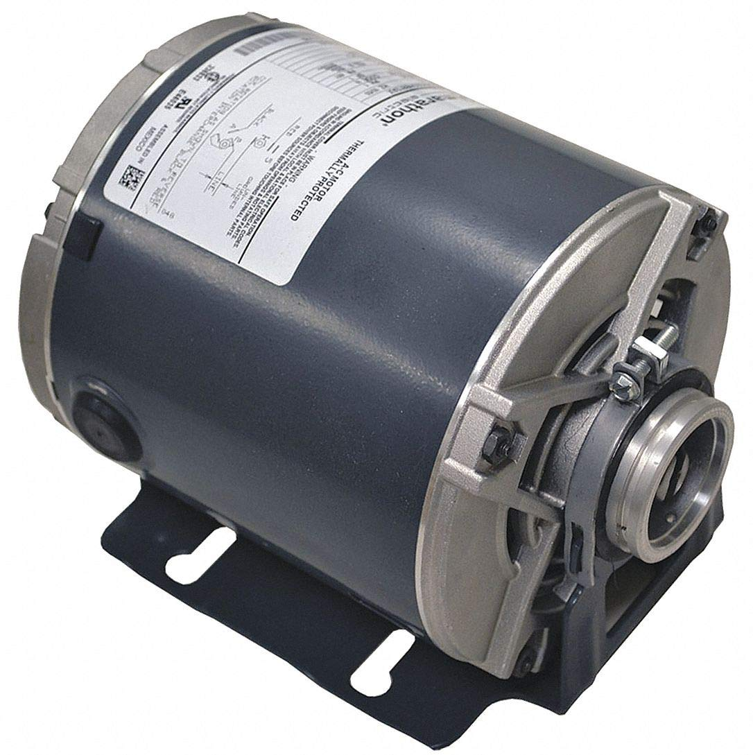 Marathon H682 48Y Frame 5KH32ENA443X Open Drip Proof Carbonator Pump Motor, 1 Split Phase, Rigid Base, Ball Bearing, 1/3 hp, 1800 RPM, 1 Speed, 115 VAC