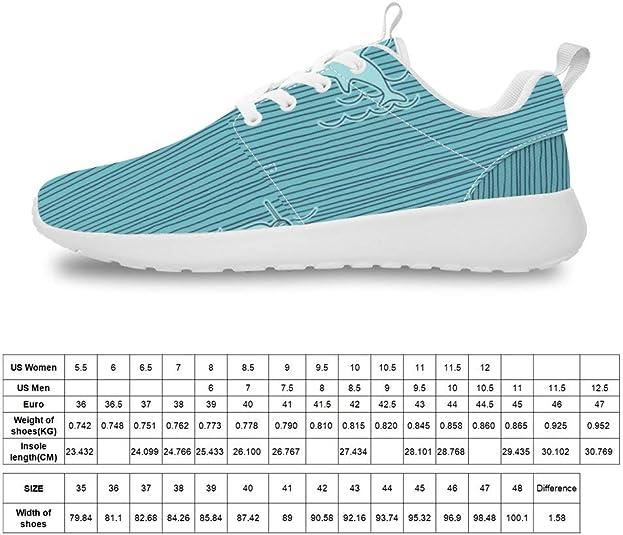 Mesllings Zapatillas de Running Unisex con diseño de tiburón Blanco para Actividades al Aire Libre: Amazon.es: Zapatos y complementos