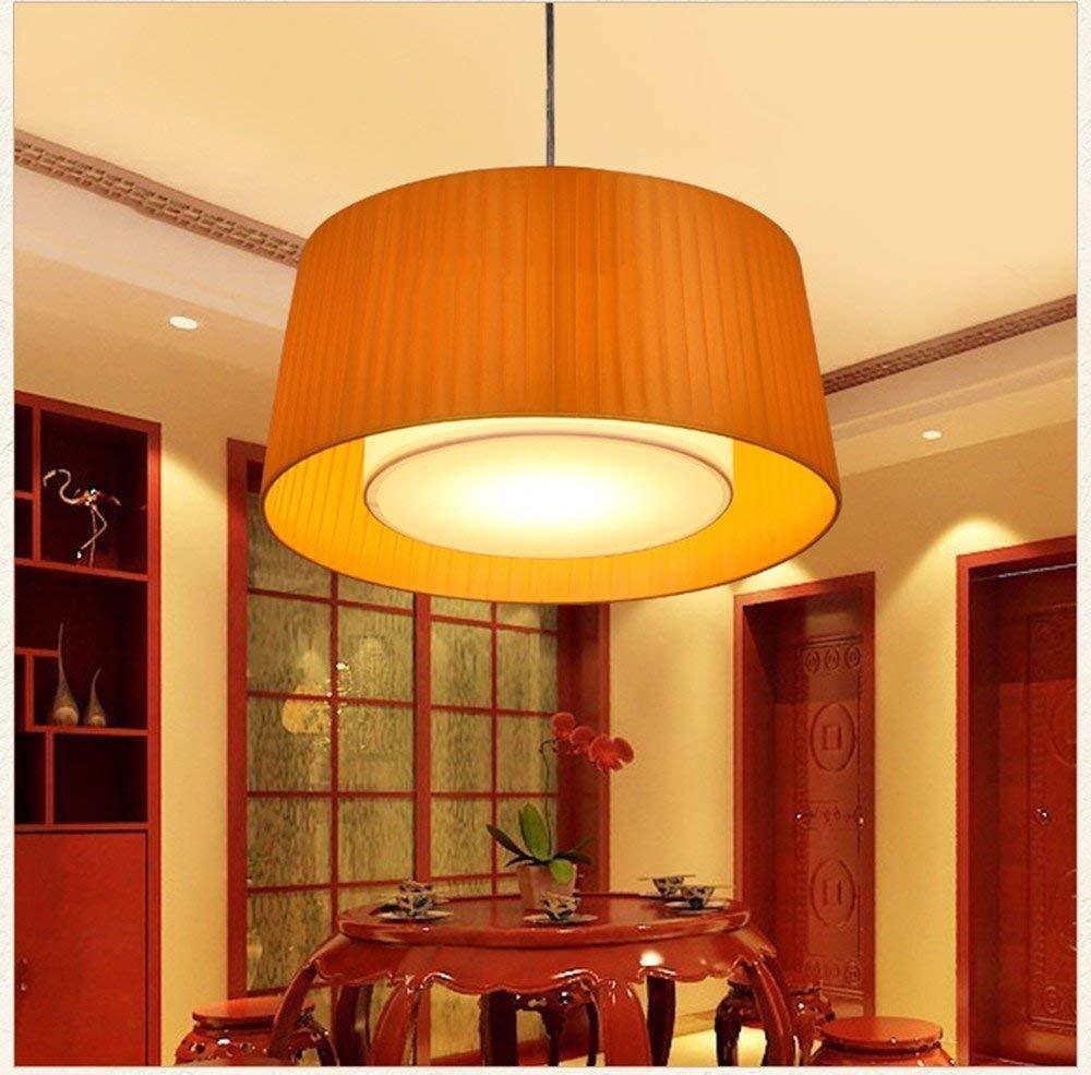 GUO Gzz Deng Home Outdoor Lighting Pendant Light Shade Industrial Hanging Ceiling Lamp Chandelier Fabrics Orange 60X26Cm Living Room Restaurant Bedroom Lighting