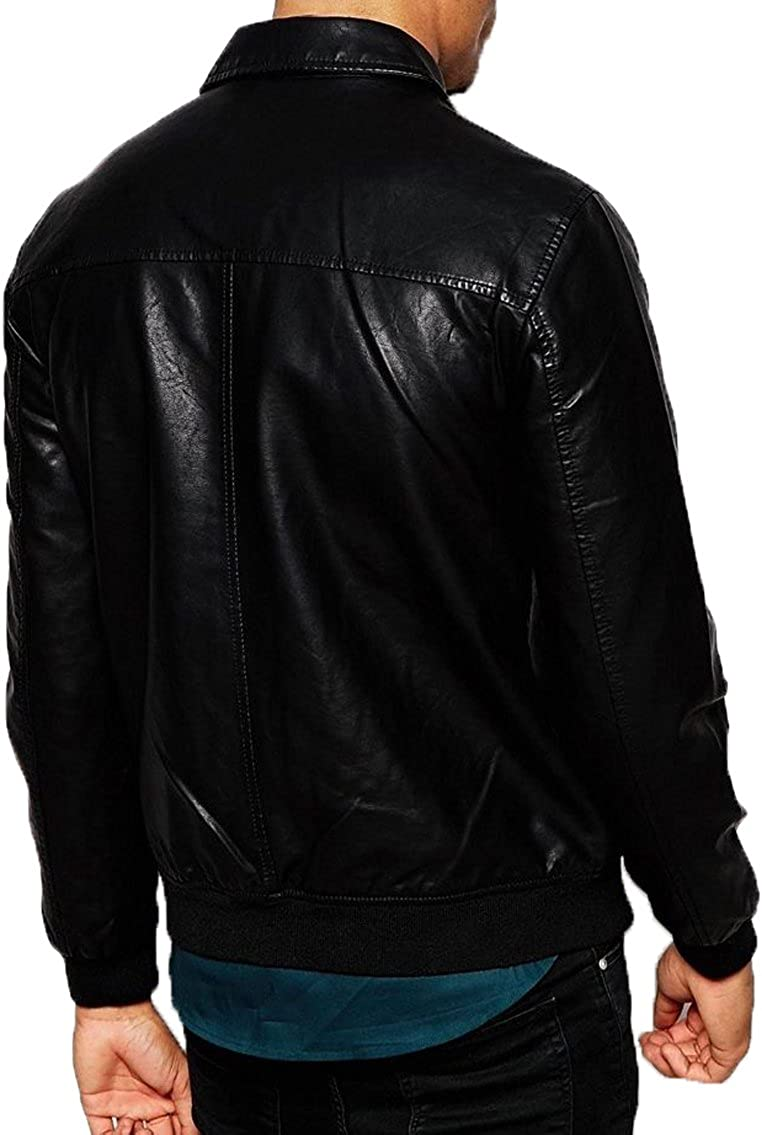New Genuine Lambskin Leather Designer Jacket Motorcycle Biker Mens S M L XL T978