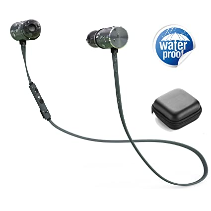 DBigness IPX5 Bluetooth Auriculares con doble recargable 8 horas duración de la batería in-ear