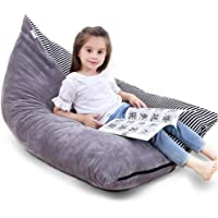 """Stuffed Animal Storage Bean Bag Chair   53"""" Extra Large Beanbag Cover for Kids and Adults, Plush Toys Holder and…"""