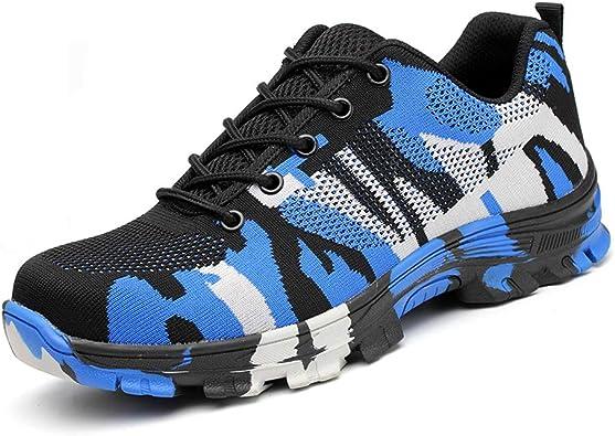 Smarten Zapatos de Seguridad Hombre Mujer con Puntera de Acero S1 Protección Ligeras Zapatillas de Trabajo Senderismo Zapatilla de Deporte Estilo: Amazon.es: Zapatos y complementos
