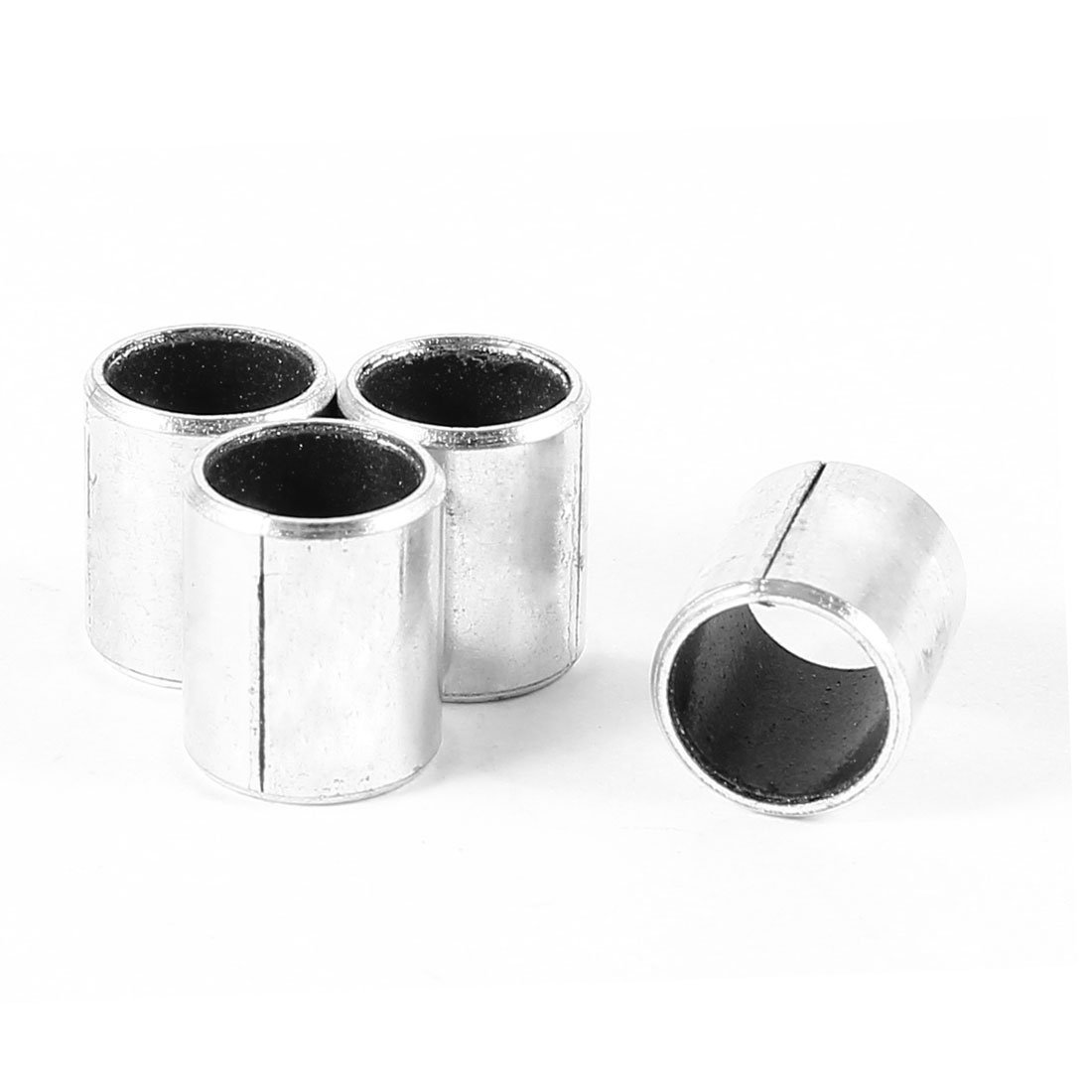 sourcingmap 4 x 12mm length x 10mm OD x 8mm Bore Silver Tone Plain Sleeve Bearing US-SA-AJD-53324
