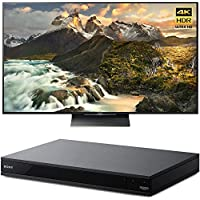 Sony 65-inch 4K Ultra HD LED TV (XBR-65Z9D) with Sony 4K Ultra HD Smart Blu-Ray Player with Hi Res 2017 Model