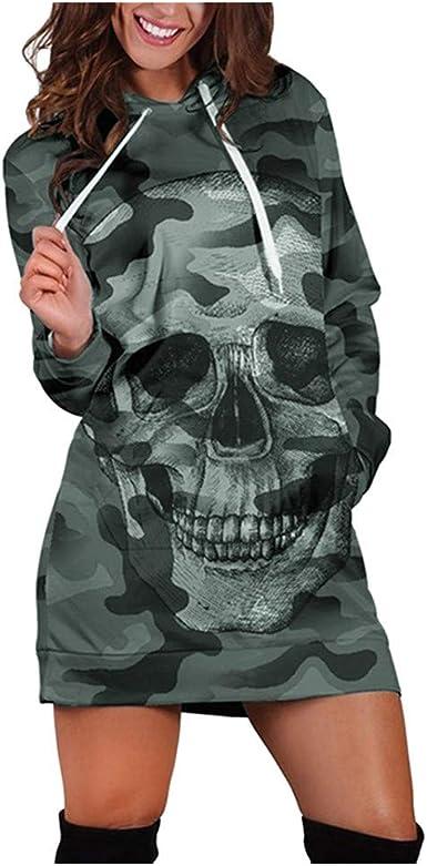 Sweat-shirt Robe à capuche Tête de Mort