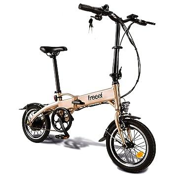 Freeel Z03 Bicicleta Eléctrica Plegable, Unisex Adulto, Oro, Talla Única
