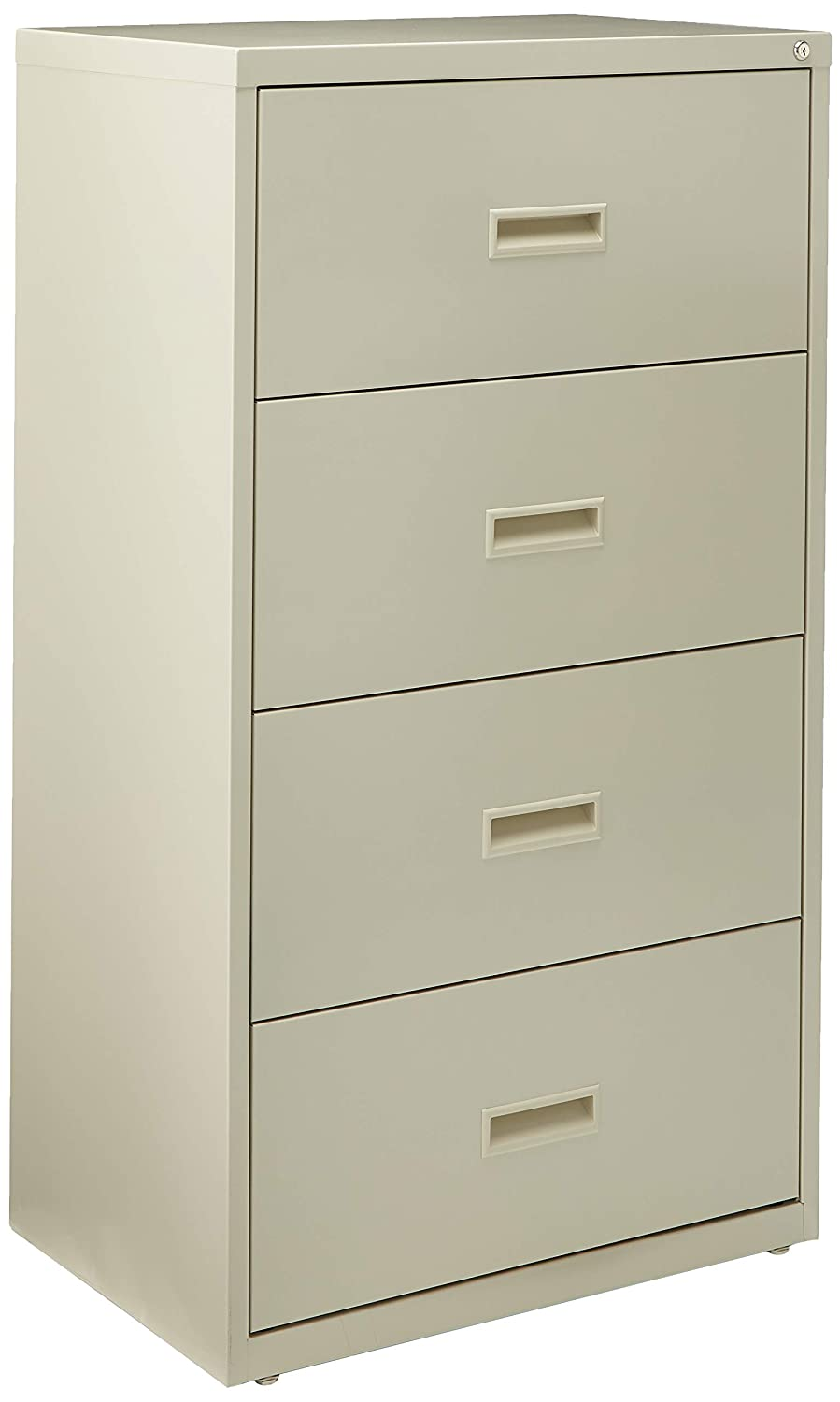 Black Lorell 4-Drawer Lateral File 30 by 18-5//8 by 52-1//2-Inch
