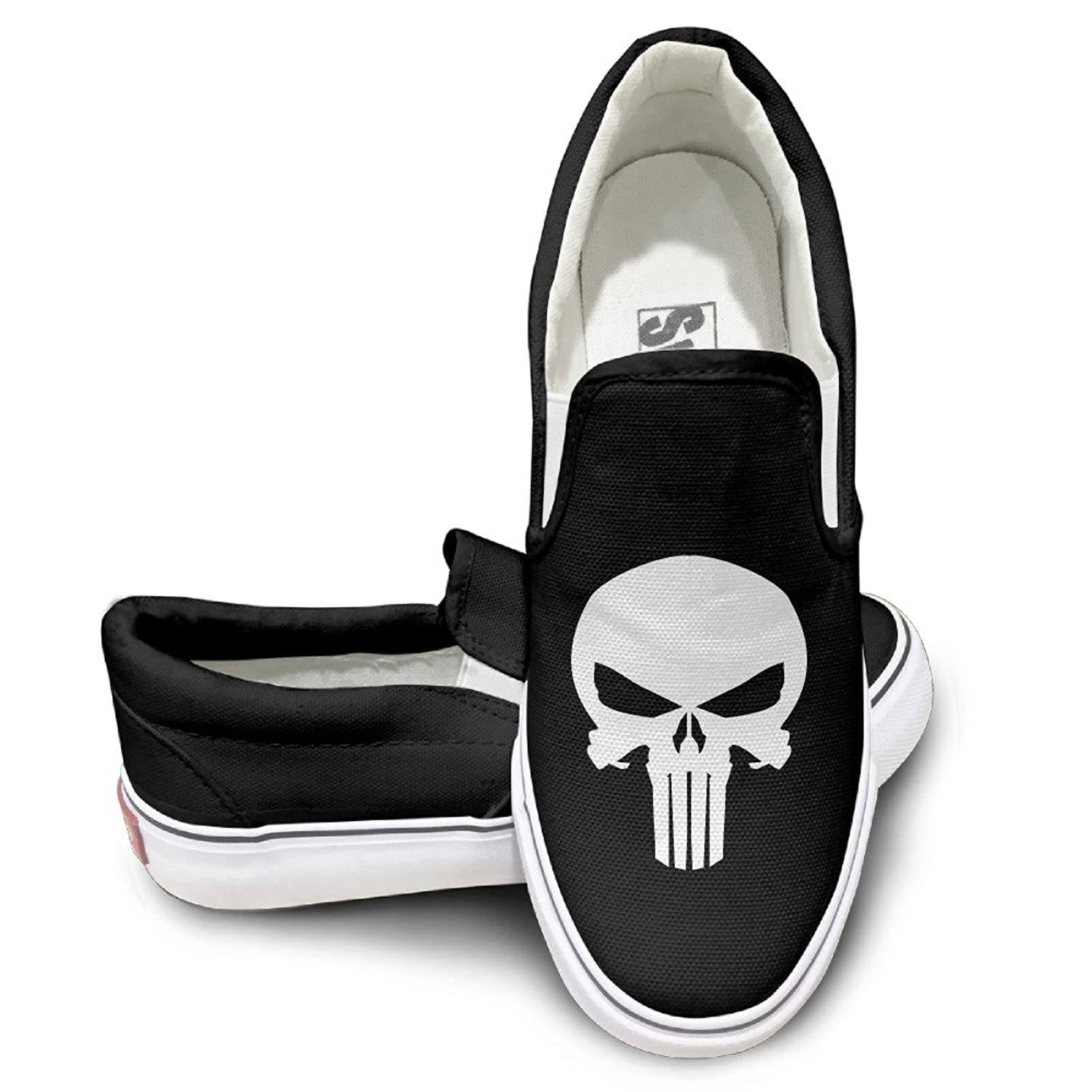 Punisher Skull Decal Mens Casual Slip-On Shoes Classic Boat Shoes