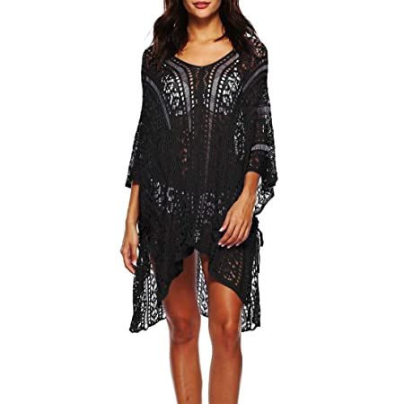 f7b74ffe8fa43 2018 Newest Summer Beach Sunscreen Smock Dress Womens Bathing Cover Up  Bikini Swimsuit Swimwear Crochet Pullover Long Sleeve Hollow Out Longuette   ...