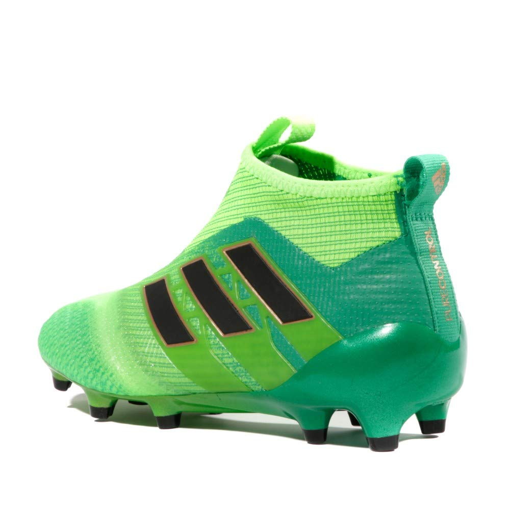 adidas Ace 17+ Pure Control FG Enfants Crampons de Foot Vert SolaireNoirVert