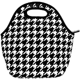 KOSOX® Lunch Tote/ Lunch Bag/ Snack Bag - Taste of Home - Simple & Delicious (Houndstooth)