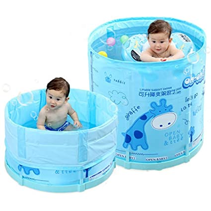 Amazon.com : Home Baby Swimming Pool, Collapsible Inflatable-Free ...