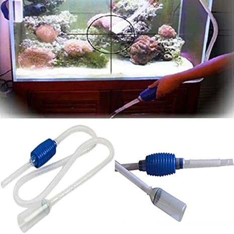 Aquarium - Tubo de limpieza para acuario con filtro para tanque de peces, con bomba