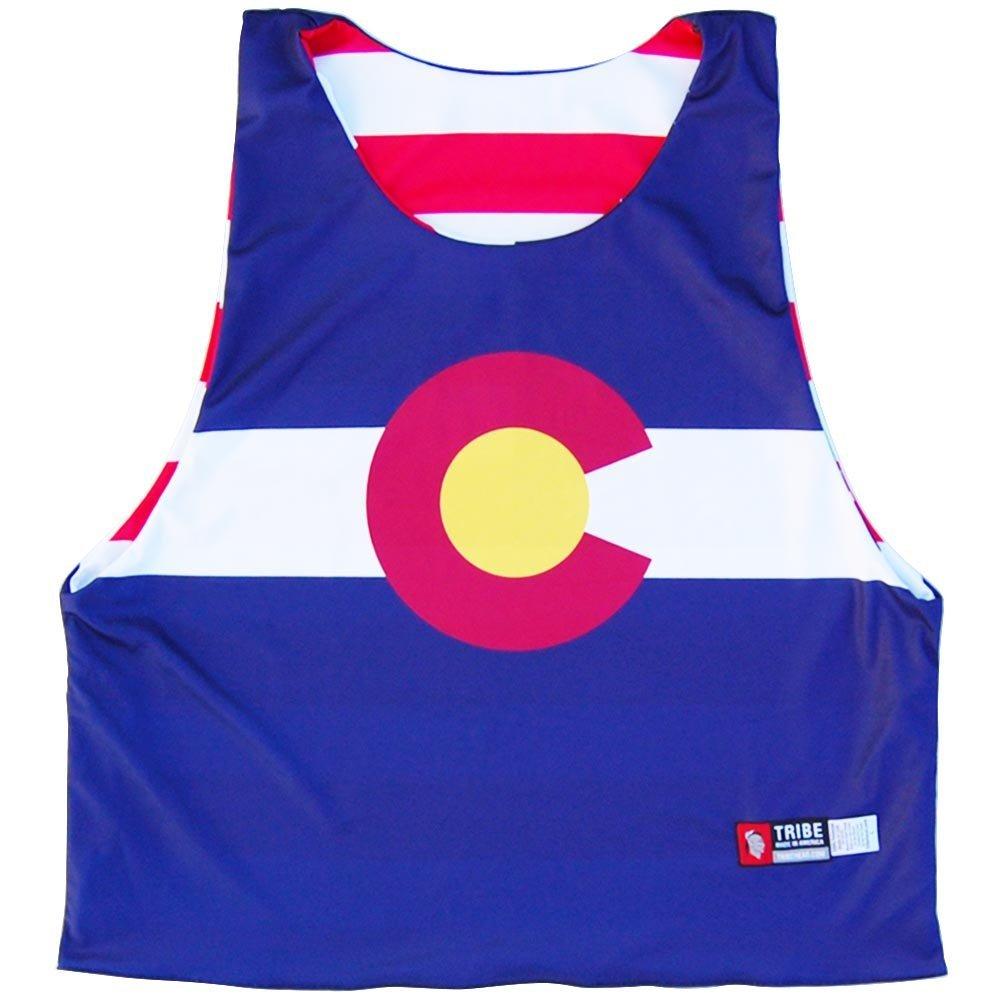 Colorado Flag and American Flag Lacrosse Pinnie