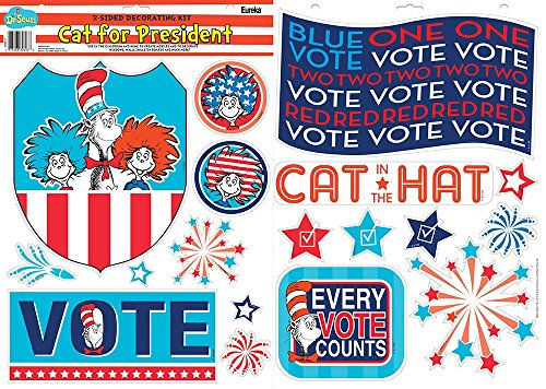 Eureka 2-Sided Deco Kits, Cat in the Hat for President (840213)