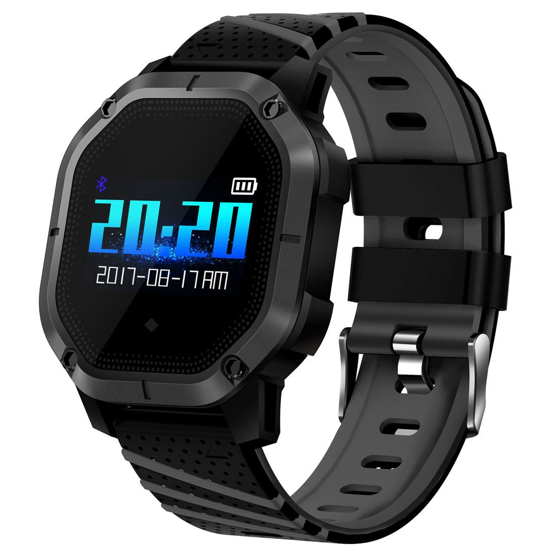New Swimming/Cycling Fitness Tracker, Blood Pressure / SpO2 / Heart Rate/Sleep Health Watch Compatible with iPhone XS XR and Android Samsung Phones, Black