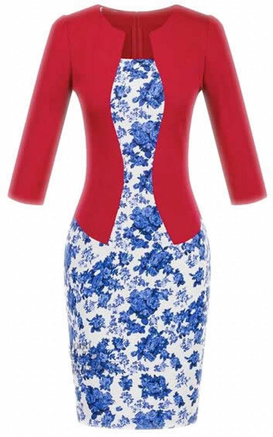 NQ Women's Classy Wear to Work Bodycon Two-pieces Dresses