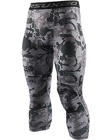 e35e595ea20 ARSUXEO Men s 3 4 Running Compression Tights Capri Pants K75