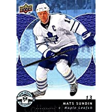 Mats Sundin Hockey Card 2007-08 UD Mini Jersey Collection #90 Mats Sundin