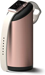 elago W Apple Watch Charging Stand Compatible with Apple Watch Series 6/SE/5/4/3/2/1 (44mm, 42mm, 40mm, 38mm) - Premium Aluminum, Fits Within Car's Cupholder (Rose Gold)
