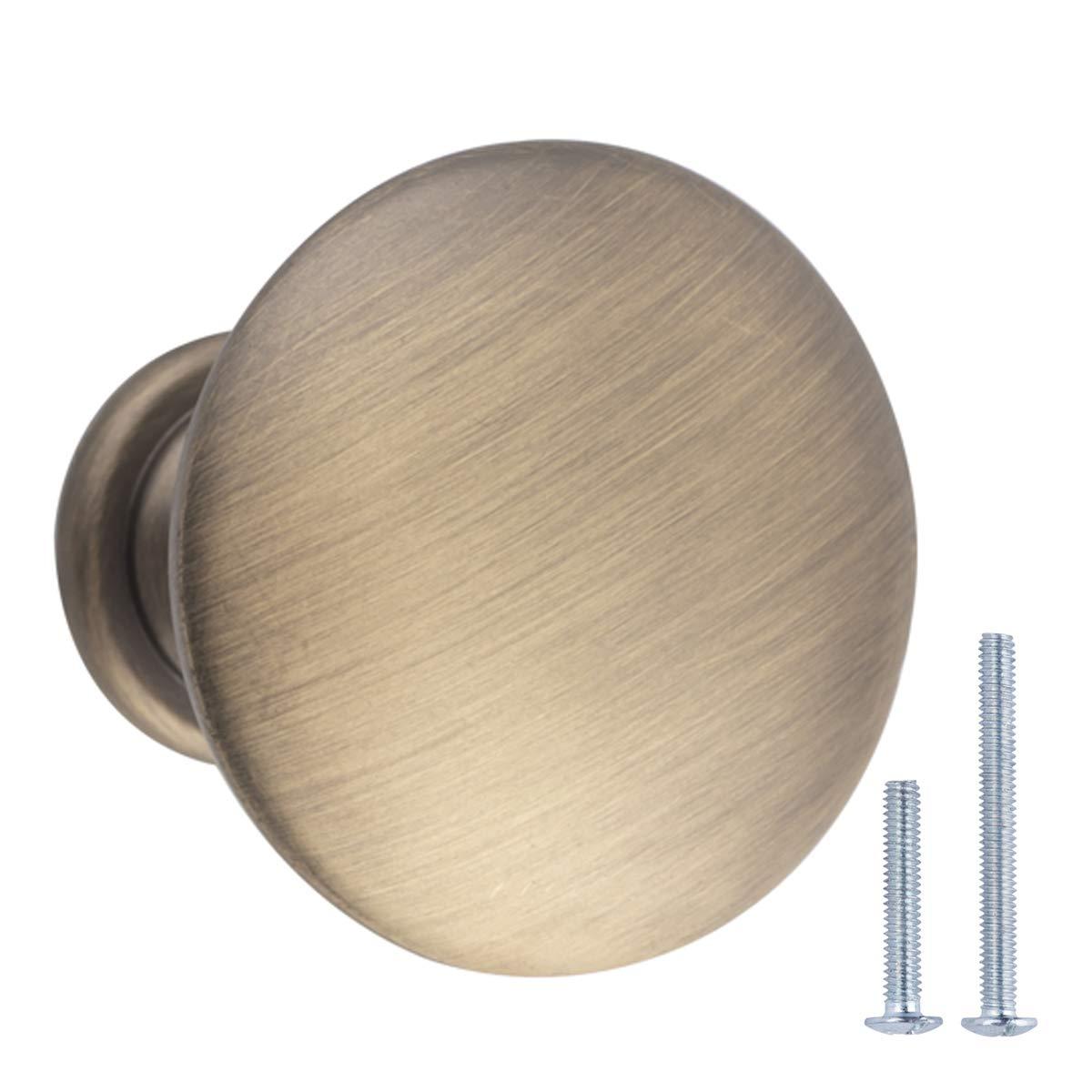 lat/ón envejecido AB100-AB-3 Basics 3 cm Pomo de armario