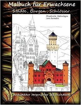 Malbuch Für Erwachsene Städte Burgen Schlösser Architektur